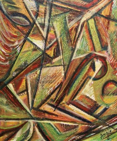 """AA2024-004 acrylique sur toile 20""""x24"""""""