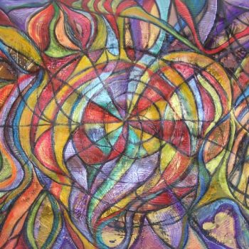 "AA4060-007 mixed media on canvas 40""x60"""