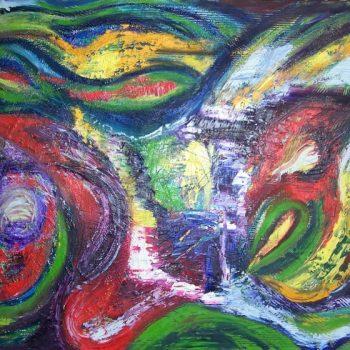 "AA4060-008 acrylic and oil on canvas 40""x60"""