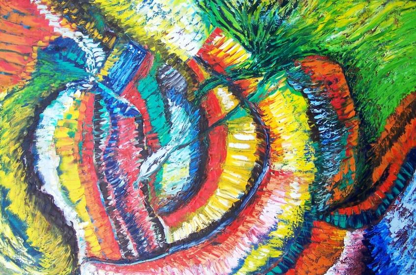 "AA4060-009 acrylic and oil on canvas 40""x60"""