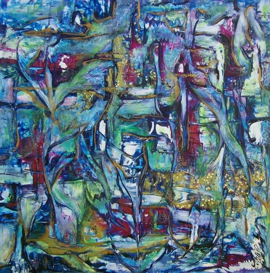 "AA4848-004 acrylic on canvas 48""x48"""