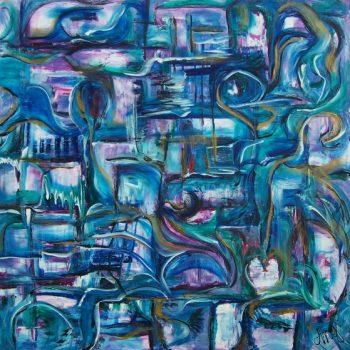 "AA4848-007 acrylic on canvas 48""x48"""