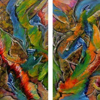 """AA2430-004 oil on canvas 2x24""""x30"""""""