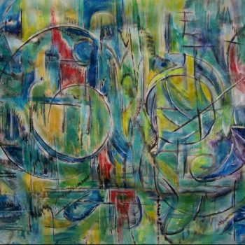 "AANOTSTR-003 mixed media on canvas 60""x100"""